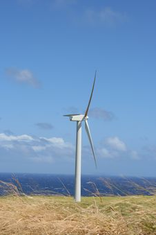 Free Hawaii Wind Farm Royalty Free Stock Image - 17427136