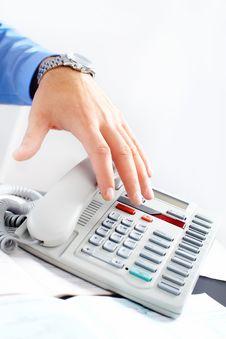 Free Businessman With Telephone Stock Photo - 17427410