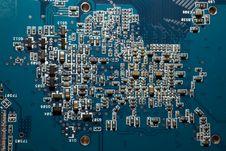 Computer Circuit Royalty Free Stock Photo
