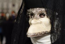 Free Mysterious Venetian Mask Stock Image - 17427621