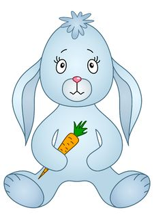 Free Rabbit With Carrot Royalty Free Stock Image - 17427736