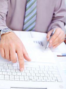 Free Businessman Typing Stock Image - 17428031