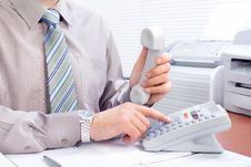 Free Businessman With Telephone Stock Photography - 17428052