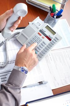 Free Businessman With Telephone Royalty Free Stock Photography - 17428067
