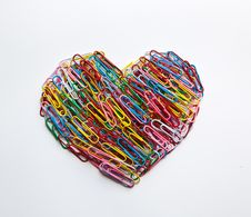 Free Paper Clips Heart Royalty Free Stock Photography - 17428337