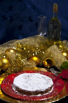 Gingerbread And White Wine Glass Stock Photo