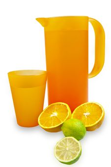 Free Pitcher And Glass With Citrus Stock Image - 17429271