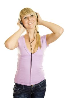 Free Woman Listening To Music Royalty Free Stock Photos - 17429528