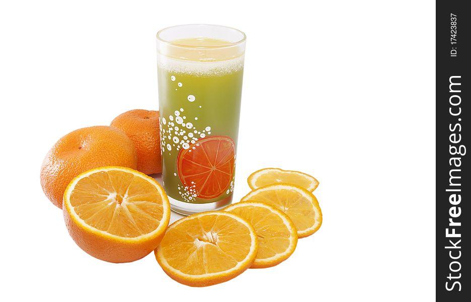 Glass of citrus orange juice
