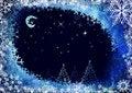 Free Winter Night Landscape Stock Photography - 17430482