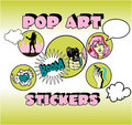 Free Vintage Popart Stickers Royalty Free Stock Photos - 17433658