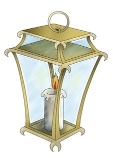 Free Lantern With Candle Royalty Free Stock Photos - 17430038