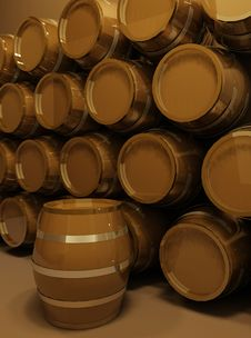 Perspective Of Barrels Royalty Free Stock Photo