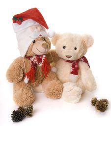 Free Christmas Teddys Stock Images - 17430394