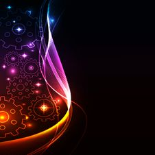 Free Glowing Abstract Background Stock Images - 17430414