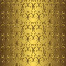 Free Golden Seamless Pattern Stock Photography - 17430442