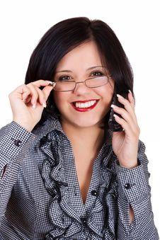 Telephone Conversation Stock Photo