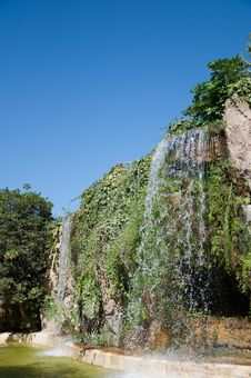 Free Waterfall And Grotto In The Genoves Park, Cadiz Stock Photography - 17431772