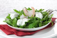 Salad With Shrimp And Remoulade Stock Image