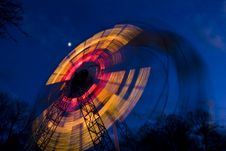 Free Ferris Wheel By Night Stock Photography - 17432632