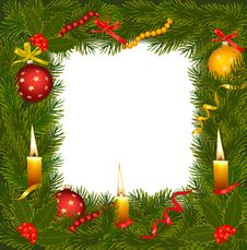 Christmas Background With Christmas Tree. Royalty Free Stock Image