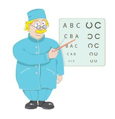 Free The Doctor The Ophthalmologist Stock Photos - 17433053