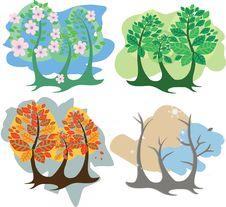 Free Four Seasons Stock Photos - 17433153