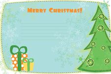 Free Christmas Card Royalty Free Stock Image - 17433156