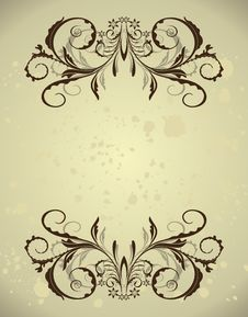 Free Vintage Floral Frame Stock Photo - 17433430