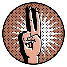 Free Victory Popart Symbol Manicure Royalty Free Stock Photos - 17433788
