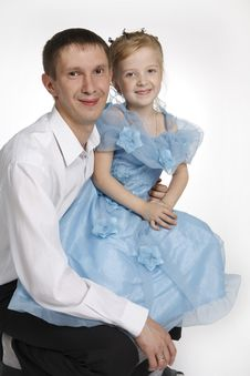 The Father And The Daughter Royalty Free Stock Photography