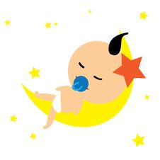 Baby Moon Stock Image