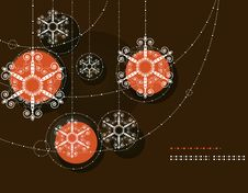 Free Christmas Ornaments, Garland Orange Stock Photos - 17435163