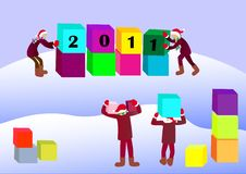 Free Greeting The New Year. Stock Images - 17435214