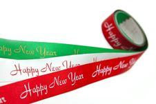 Free Red/White/Green Ribbon Royalty Free Stock Photo - 17435325