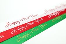 Free Red/White/Green Ribbon Stock Image - 17435381