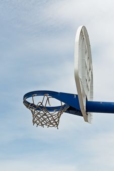 Free Playground Basketball Hoop And Backboard Royalty Free Stock Image - 17435976