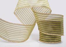 Free Closeup Of Decorative Green Ribbon Stock Photography - 17436932