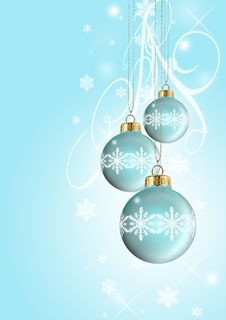 Free Blue Christmas Balls Stock Photography - 17437052