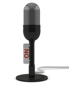 Free Black Retro Microphone Royalty Free Stock Photo - 17437285