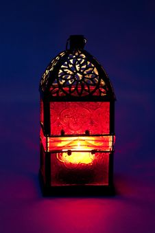 Free Burning Lantern Royalty Free Stock Photos - 17439378