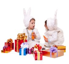 Free New Year Rabbit Royalty Free Stock Photo - 17439405
