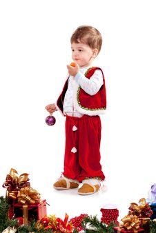 Free Santa Claus Boy Royalty Free Stock Photos - 17439438