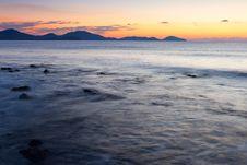 Free Colorful Sunrise On The Rocky Coast Stock Image - 17439441