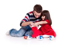 Free Father Playing With Daughter Stock Image - 17439601