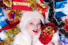 Free Santa Claus Girl Royalty Free Stock Image - 17439926