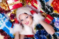 Free Santa Claus Girl Stock Photography - 17439942