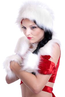 Free Santa Claus Girl Stock Image - 17439981