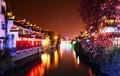 Free Qinhuai River In Night Royalty Free Stock Image - 17441176