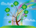 Free Abstract Tree  Illustration Spring Rainbow Stock Image - 17449591